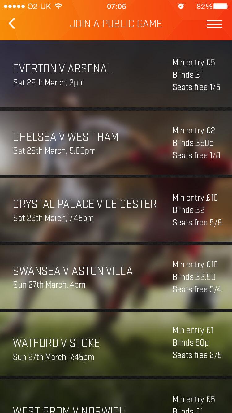 Match select screen