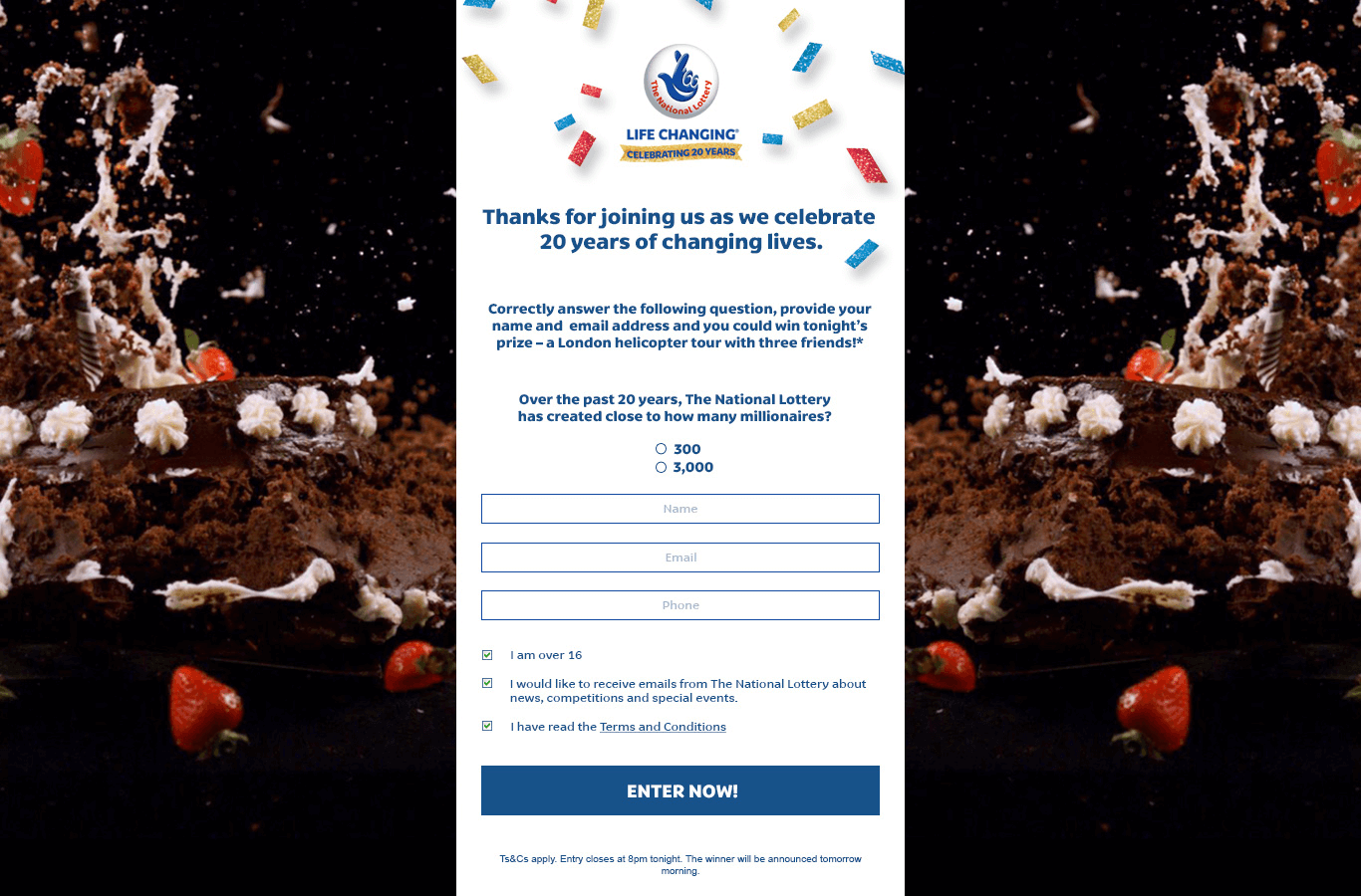 lottery competition page