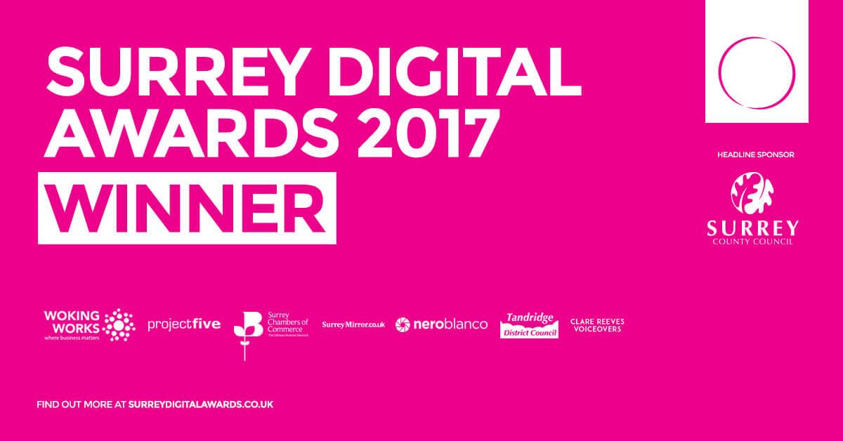 Surrey digital awards winner